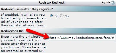 redirigir usuario registrado participación