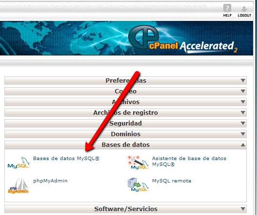 cpanel-base de datos
